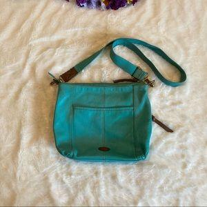 Fossil Turquoise Morgan Messenger Bag 13x11